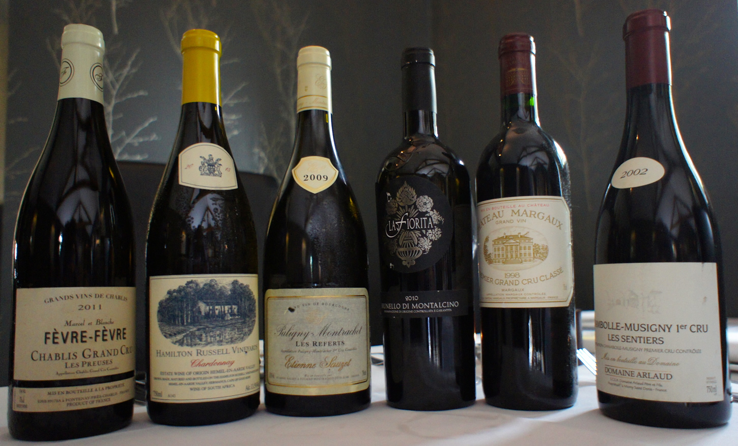 wine selection reds